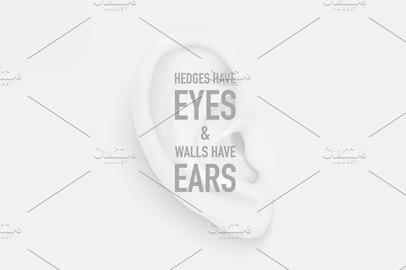 Human ear. Vector set.  by gomolach on @creativemarket