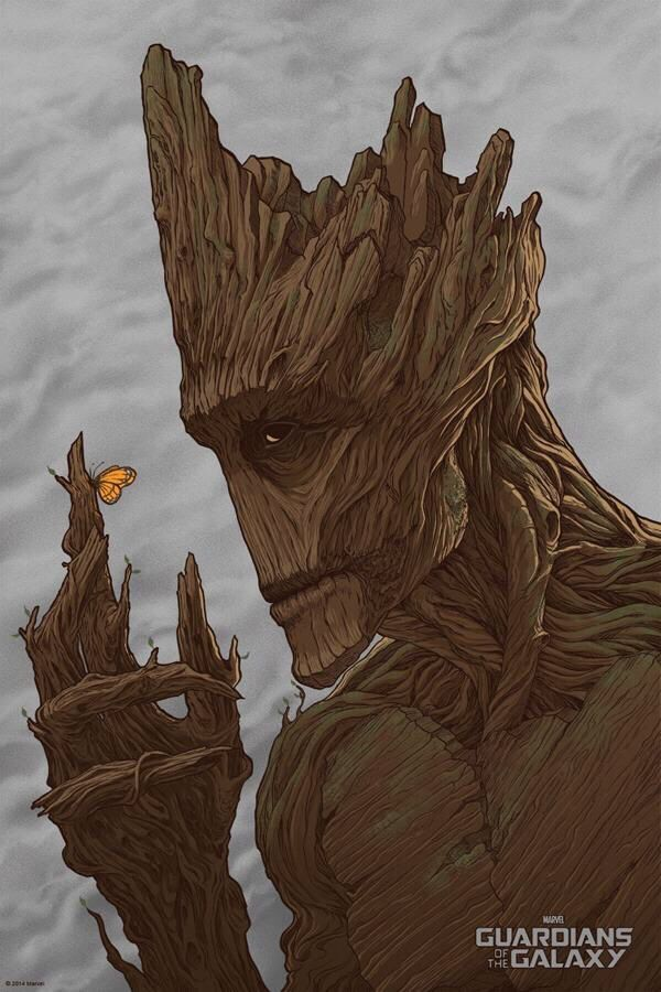 Groot has a very sensitive side.
