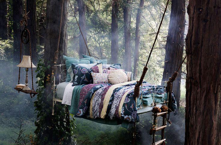 Романтические спальни под открытым небом