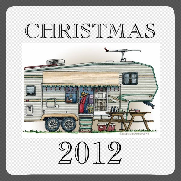 Memories of camping last a lifetime! And so do those memories of your fifth wheel camper. These whimsical fifth wheel camper ornaments are as cute as they can be:) This  fifth wheel vintage camping trailer was designed by artist Richard Neuman. His uniquely styled vintage trailers artwork is collected worldwide. You will find these Christmas ornaments are great fifth wheel camping trailer gifts that will make fellow camping buddies happy campers! Get the fifth wheel trailer image on…