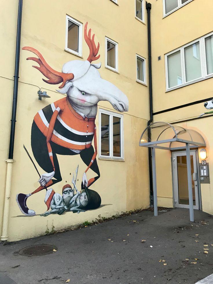 Street-art em Oslo, #Noruega