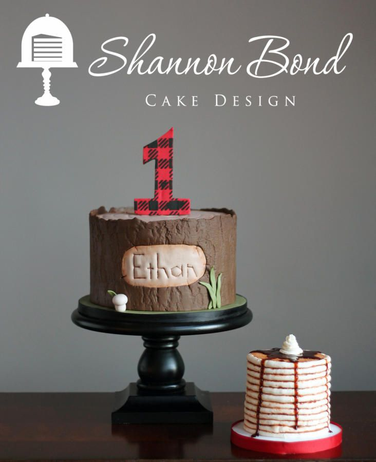 Plaid First Birthday Cake by Shannon Bond Cake Design