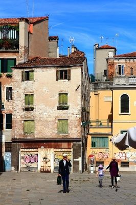 Old Buildings in Venice, Italy