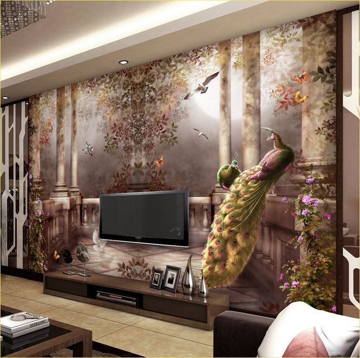 Stunning Living Room Murals Decorations Design