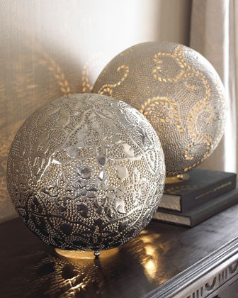 """""""Marrakech"""" Round Lamps at Horchow."""