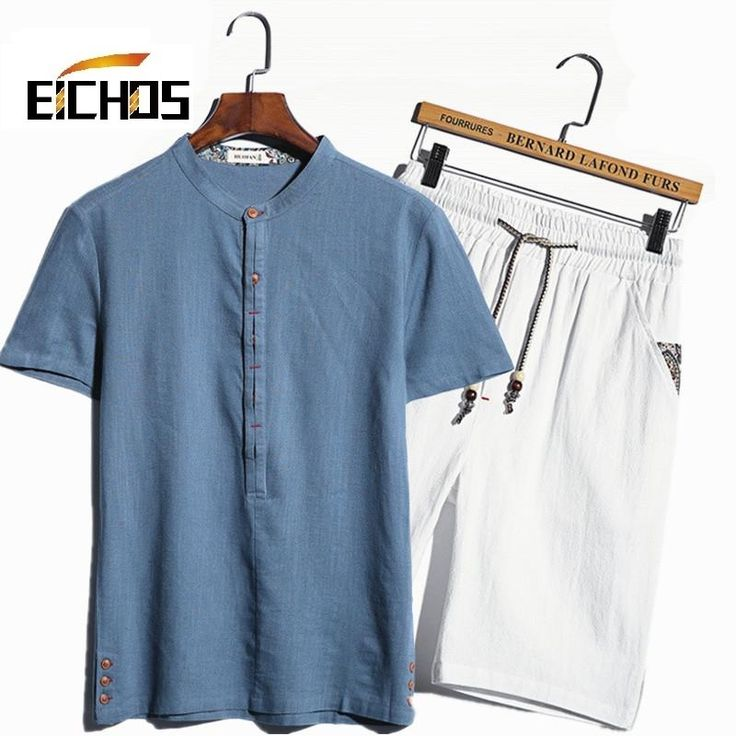 >> Click to Buy << The New Hedging Linen Shirts Men Chinese Style Short-sleeved Shirt Suit Solid Camisa Manga Corta Hombre Cotton Mens Shorts Sets #Affiliate