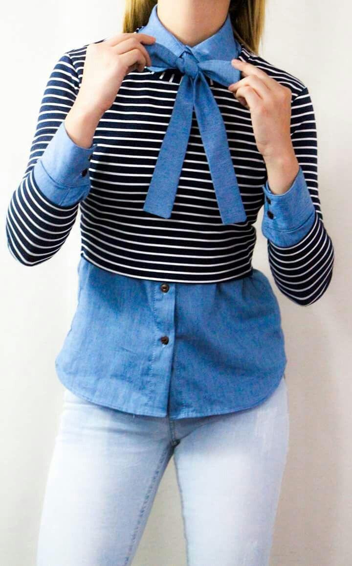 Blusa con moño están muy de moda en corea