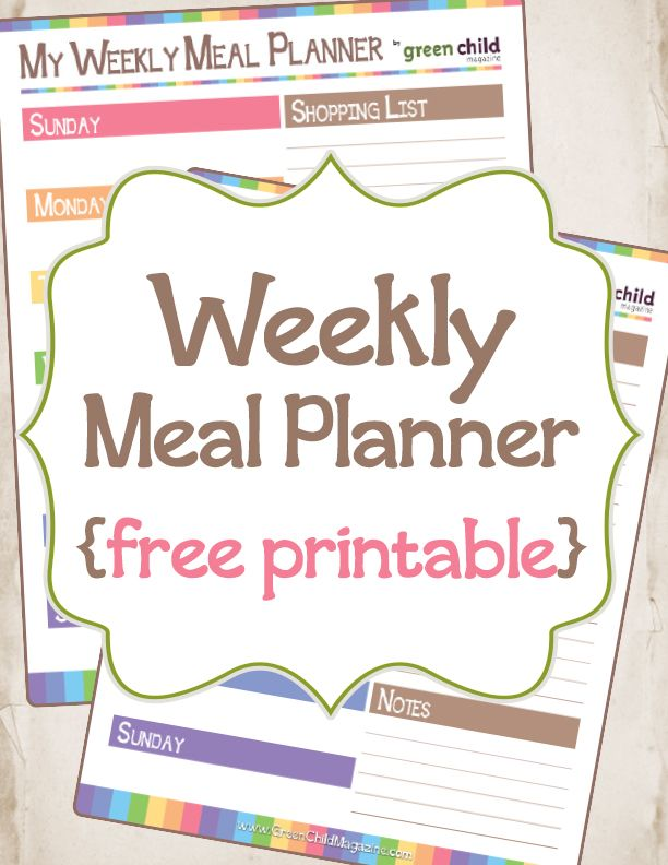 Best 25+ Weekly meal planner ideas on Pinterest Meal planner - printable meal planner