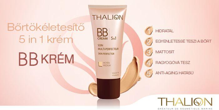 A Thalion 5-az-1-ben Bőrtökéletesítő BB Krém nélkülözhetetlen kellék a nap indításához!  http://www.thalion.hu/products/view/114
