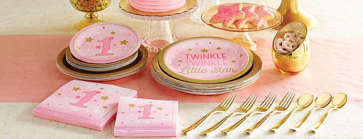 One Little Star Pink Party Supplies