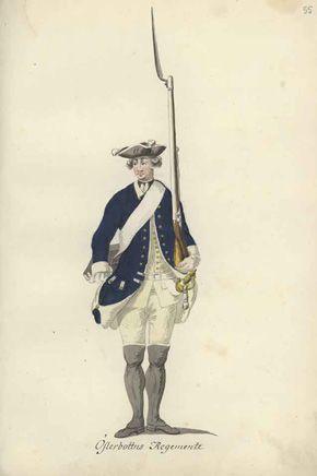 Pohjanmaan rykmentin sotilas 1765