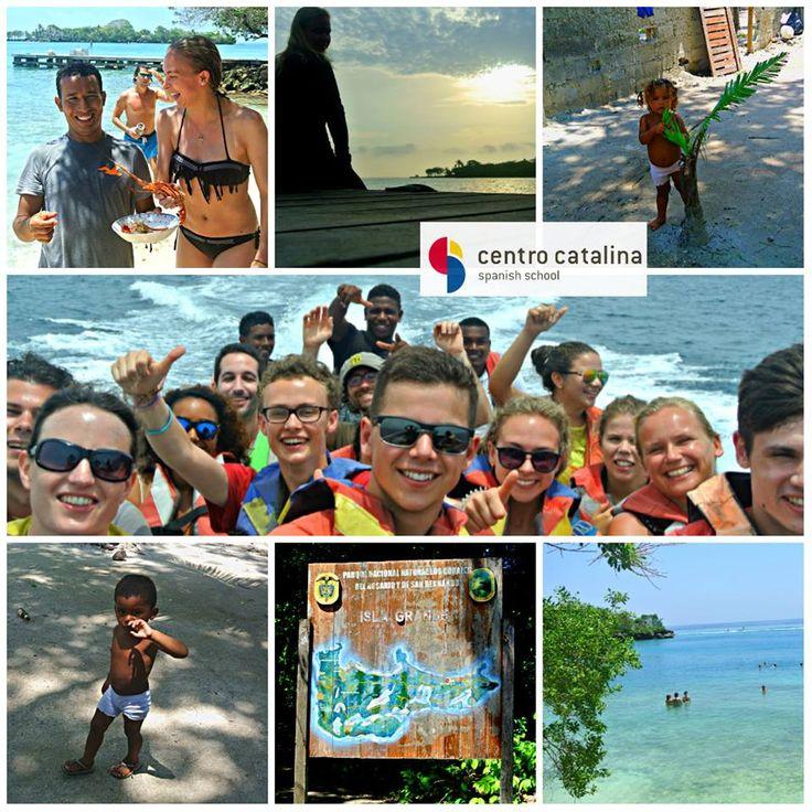 Islas Rosario Trip for our students #centrocatalina #spanishschool #beautifulbeaches #pueblolife #seafood #islagrande