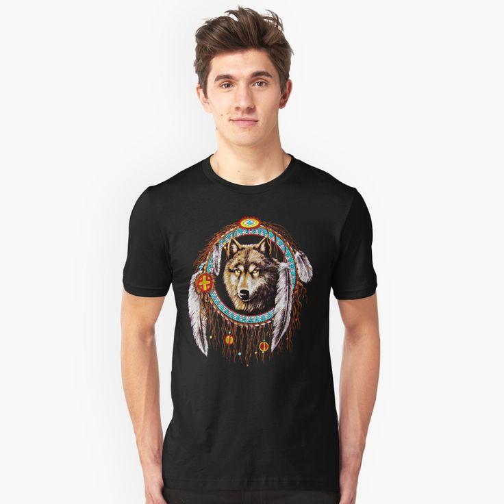 Wolf Dreamcatchers Unisex T-Shirt  #tee #tshirt #clothing #unisex #indiannative #Indian #Native #Stark #Clan #Wolf #DreamCatcher