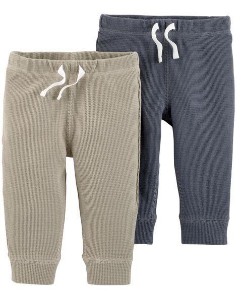 bc23f7bae 2-Pack Thermal Pants Brown Joggers, Baby Boy Bottoms, Thermal Pants, Jogger