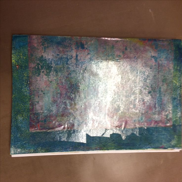 Artful Adventures - Trash.   This gelli print reminds me that before I trash it I need to rethink it and add to it etc.