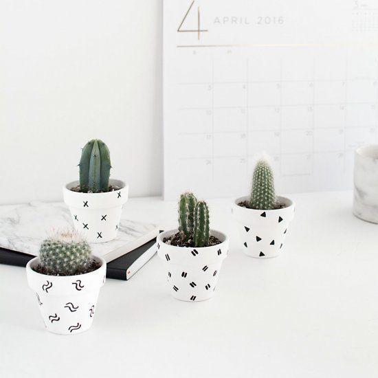 Mini Patterned Plant Pots