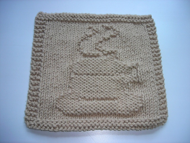 My Coffee Cup Dishcloth by DiniKnits, via Flickr Knitted ...