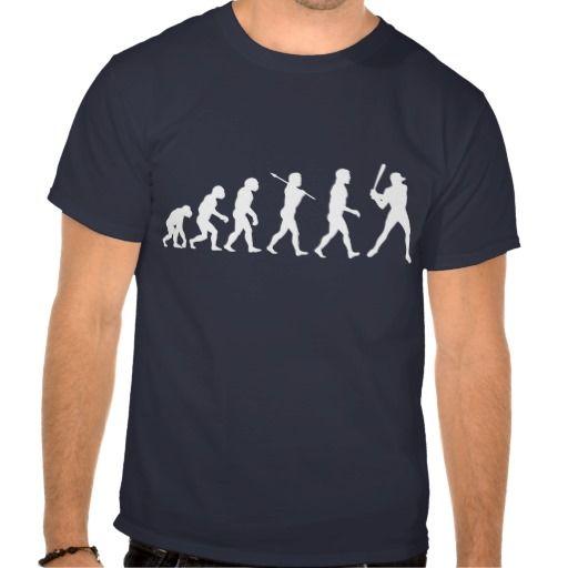 Baseball Evolution ~ Baseball Player Tee Shirts