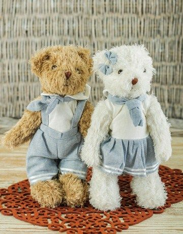 Pair of Teddies Boy and Girl