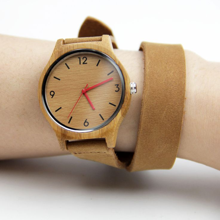 >> Click to Buy << 100% Nature Handmade Women's Bamboo Watches Fashion Gifts With Japenese Movement Quartz Wristwatch Genuine Leather Straps #Affiliate