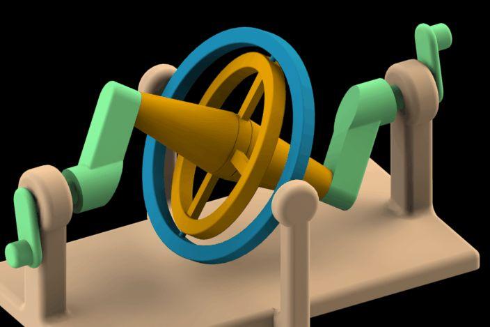 Wobbling disk mechanism - SOLIDWORKS,STEP / IGES - 3D CAD model - GrabCAD
