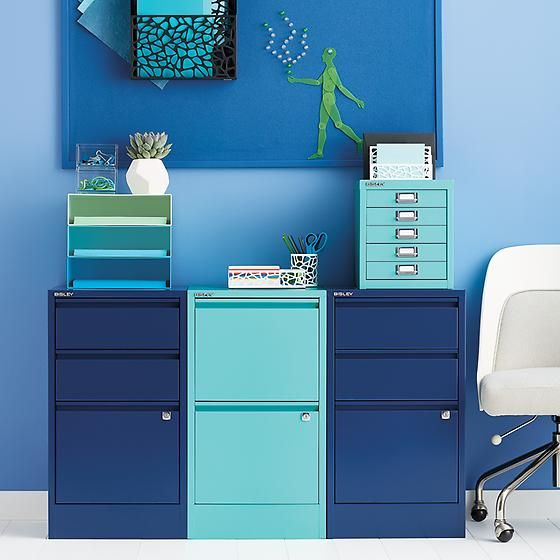 Aqua Bisley 5-Drawer Cabinet | The Container Store