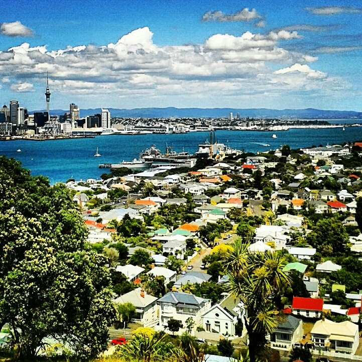 Auckland New Zealand as seen from Devonports Mt. Victoria (January 2013)