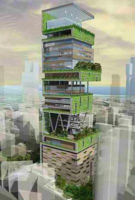 a skyscraper that resembles an ikea cd rack, the building actually looks like it may succeed as a stunning, unique, green piece of architecture
