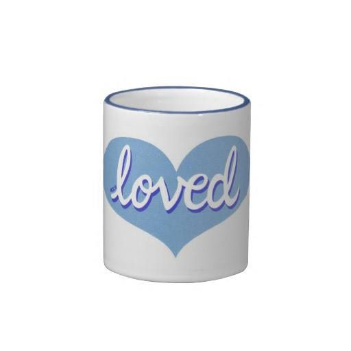 Coffee Mug Blue heart design Available in a range of styles and designs