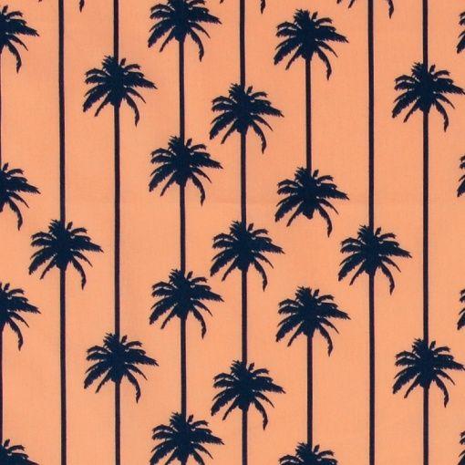 Baumwolle, Koralle mit dunkelblauer Palm