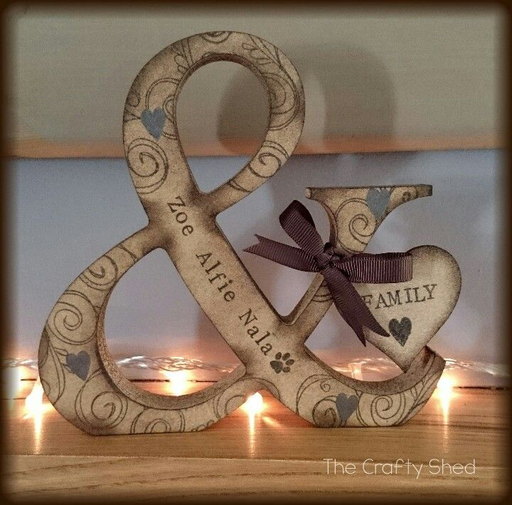 Personalised, wooden, family ampersand. @officialzoella @traceysugg x