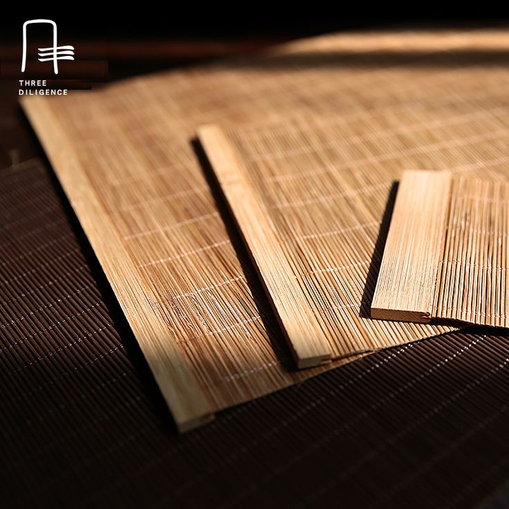 Bamboo Coaster Bamboo Placemats for Dining Table Runner Linens place mat in Kitchen Accessories Cup Wine mat