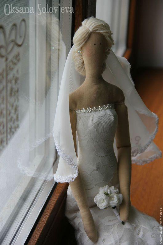 Портретные куклы ручной работы. Свадебная пара в стиле Тильда. Оксана Соловьева. Интернет-магазин Ярмарка Мастеров. Невеста, годовщина
