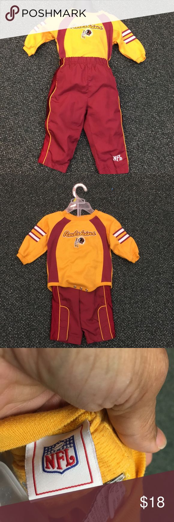 Size 18m Redskin kids outfit Preowned NFL Matching Sets