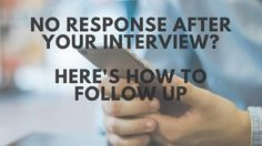 So, you finished your interview, went home excited to hear back, but now what? Maybe it's been a few days (or more) and you haven't heard anything. Take a deep breath and relax, help is on the way… I'm going to show you exactly how to send a follow up email after your interview if you've gotten no response. …