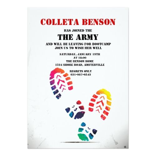 120 best retirement party invitations images on pinterest retirement party invitations shoe print invitation stopboris Gallery
