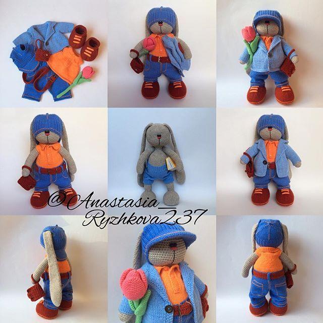 #villy_vanilly_shop #weamiguru #knitting #crochet #amigurumi #вязание #вязаныйзаяц #сделановомске #амигуруми #вязанаяигрушка