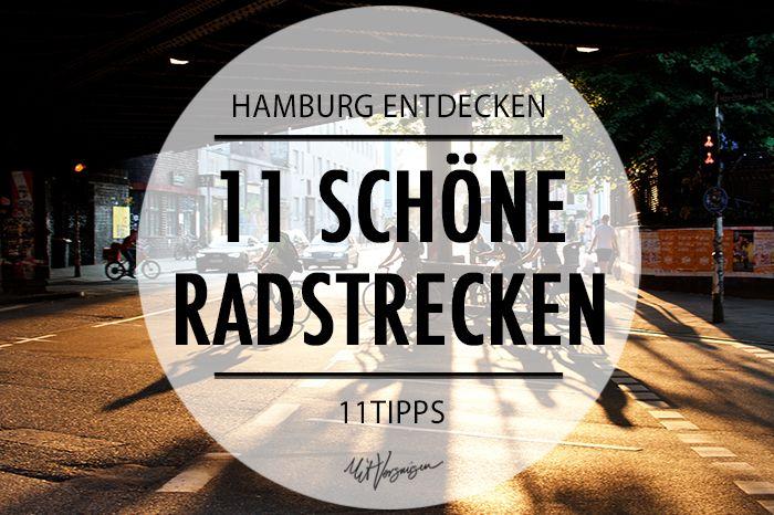 Hol das Fahrrad aus dem Keller und schwing dich durch die schönsten Fahrradstrecken Hamburgs!