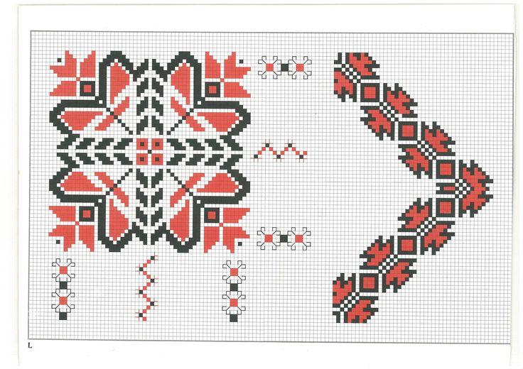 cross stitch, romanian pattern 50