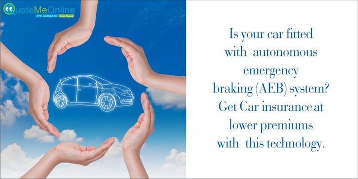 Is your car fitted with autonomous emergency braking (AEB) system? Get #carinsurance at lower premiums with this technology. http://bit.ly/1nnTOde