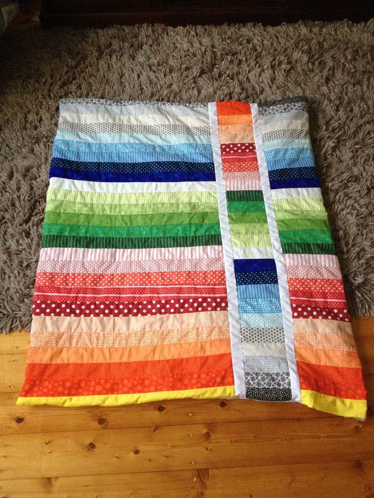 Strip flip baby blanket