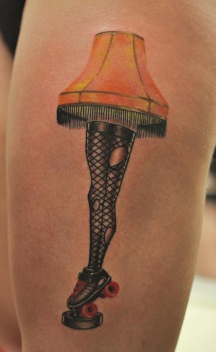 I love bizarre tattoos like this, especially when they have roller boots