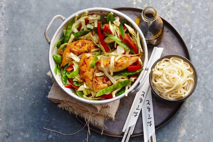 Kip teriyaki met noedels en groenten - Recept - Allerhande