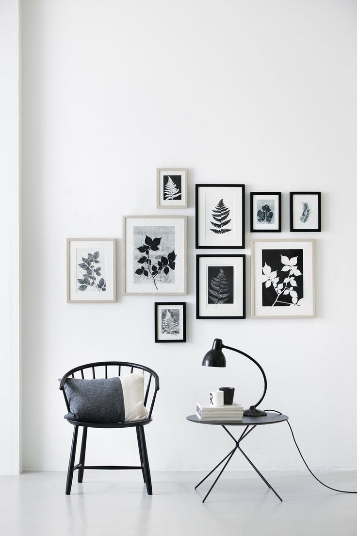 Black and white gallery wall - a sophisticated minimalistic look!