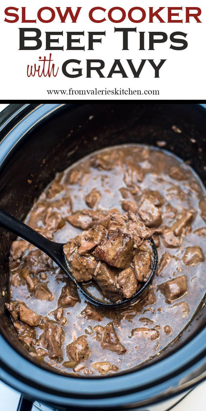 A delicious way to prepare steak in the cold fall and winter months. Slow Cooker Beef Tips with Gravy is a satisfying, family-friendly meal. With a little help from your slow cooker you can have this delicious, satisfying meal on your menu any night of the week. ~ http://www.fromvalerieskitchen.com                                                                                                                                                                                 More
