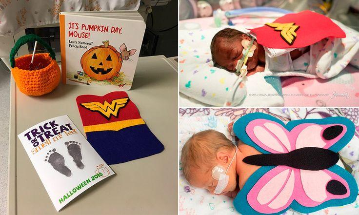 O Hospital St. Luke, do Kansas, nos Estados Unidos, preparou uma surpresa muito fofa para os pais com filhos internados na UTI neonatal do local. Um grupo de enfermeiros e voluntários se uniram para criar mini fantasias para os recém-nascidos.   Os bebês foram vestidos com joaninhas, borboletas, jogadores e super heróis, com fantasias feitas...