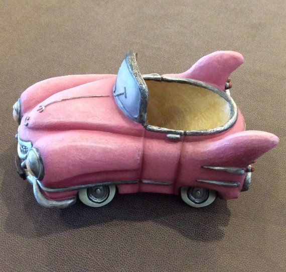 Pink Cadillac Wine Bottle holder whimsical stylized by HappyLilac