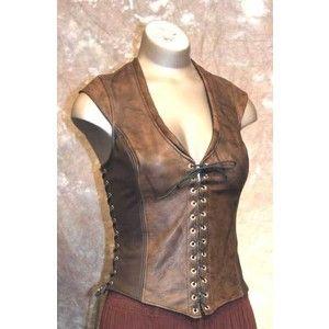 Bodice Archers Leather Corset