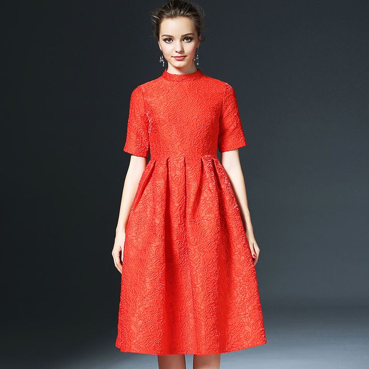 Winter Dresses Women 2016 New High Quality Bridal Wear O-Neck Short Sleeve Jacquard Midi Dress -  Check Best Price for. We provide the discount of finest and low cost which integrated super save shipping for Winter Dresses Women 2016 New High Quality Bridal Wear O-Neck Short Sleeve Jacquard Midi Dress or any product.  I hope you are very happy To be Get Winter Dresses Women 2016 New High Quality Bridal Wear O-Neck Short Sleeve Jacquard Midi Dress in cheap. I thought that Winter Dresses Women…