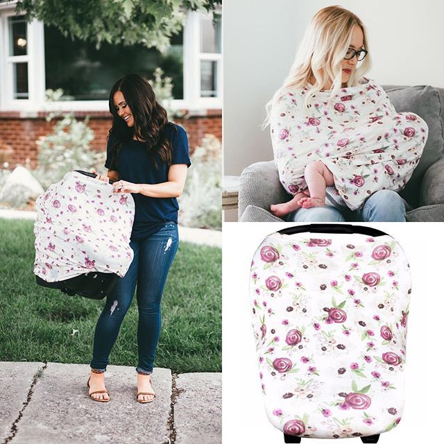 A mom's dream come true! It's stretchy and works as a car seat cover, nursing cover, and shopping cart cover! | Copper Pearl